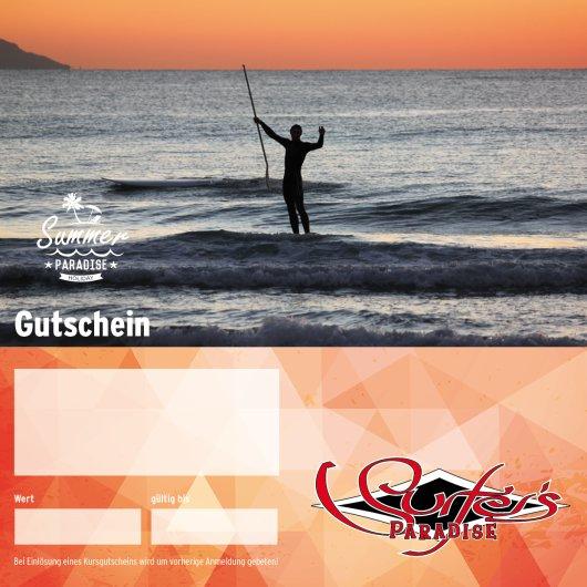 Gutschein SUP Stand Up Paddle Kurs