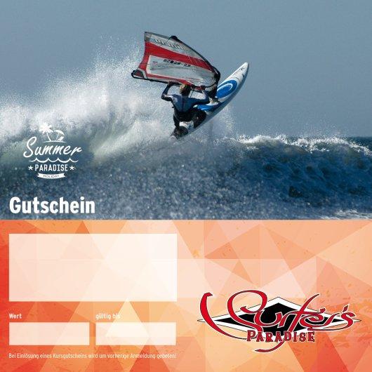 Gutschein Windsurfkurs 4 Tage Special für Einsteiger oder Fortgeschrittene PDF